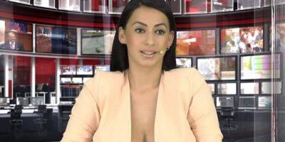 """Y actualmente trabaja como locutora de noticias en el canal """"Zjarr"""" de la televisión abierta en Albania. Foto:Vía Facebook.com/enki.bracaj"""