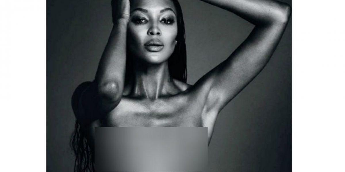 Naomi Campbell desafía Instagram con foto en topless