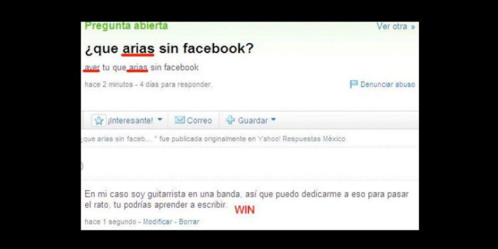 """""""Yo vivir, tu comprarte un diccionario"""". Foto:vía Yahoo Answers"""