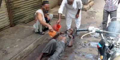 Víctima de la ola de calor en Pakistán. Foto:AFP