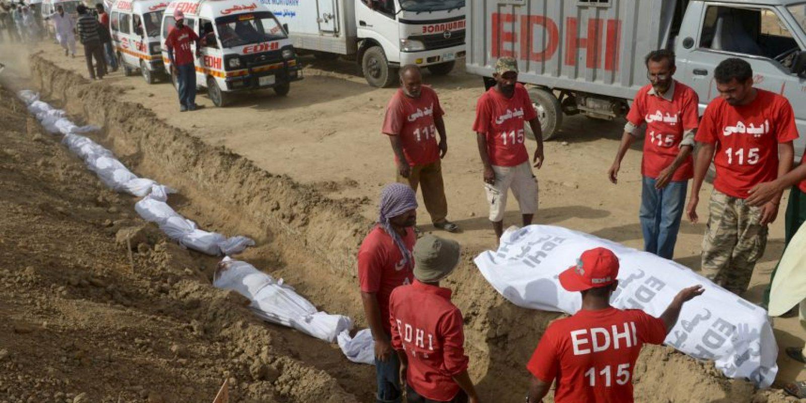 La ola de calor en Pakistán ha cobrado la vida de más de mil personas. Foto:AFP