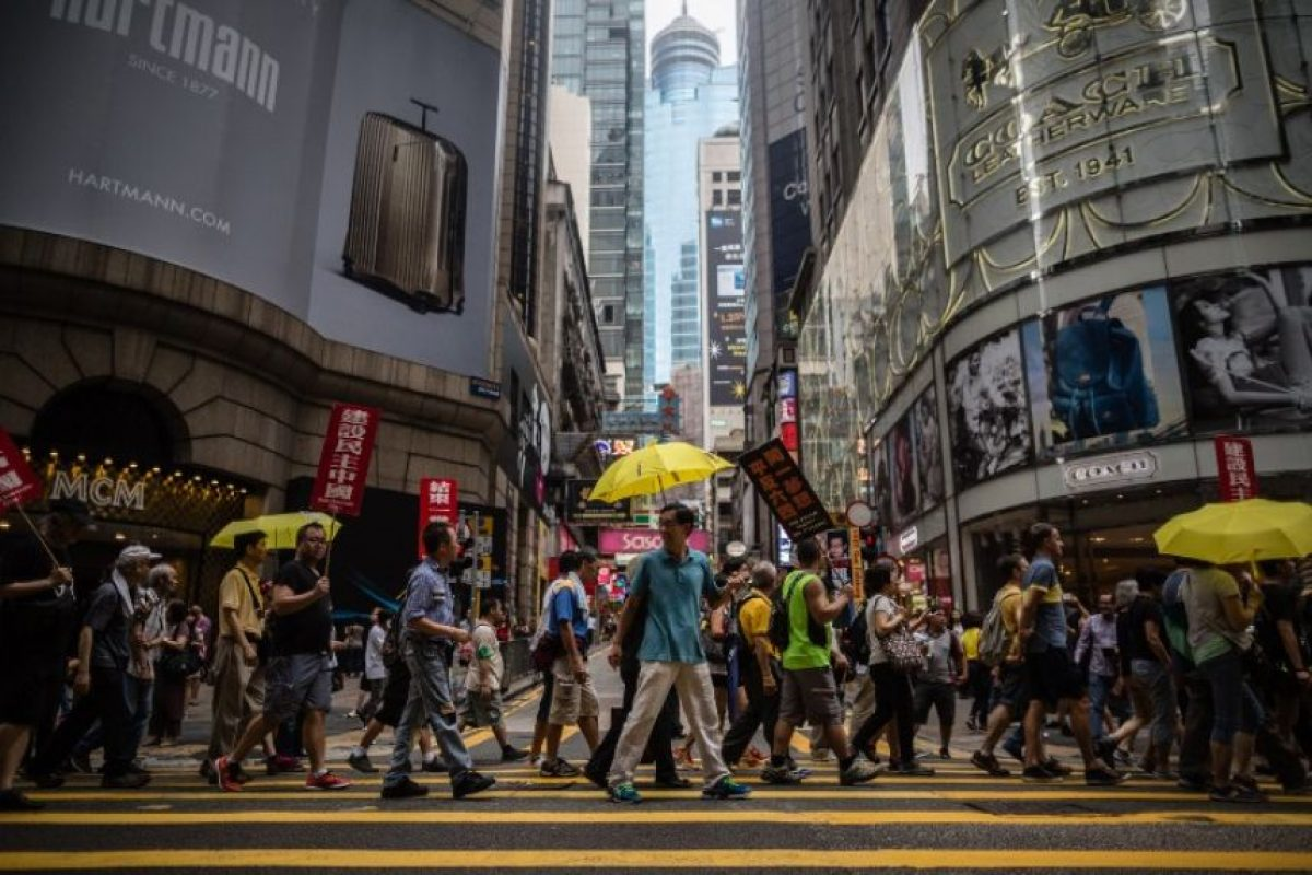 """Hecho que sirvió para que los manifestantes prodemocracia de la """"Revolución de las sombrillas"""" salieran a las calles Foto:AFP"""