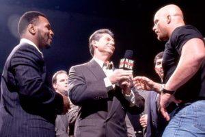 En una de sus apariciones fue encarado por Stone Cold Foto:WWE