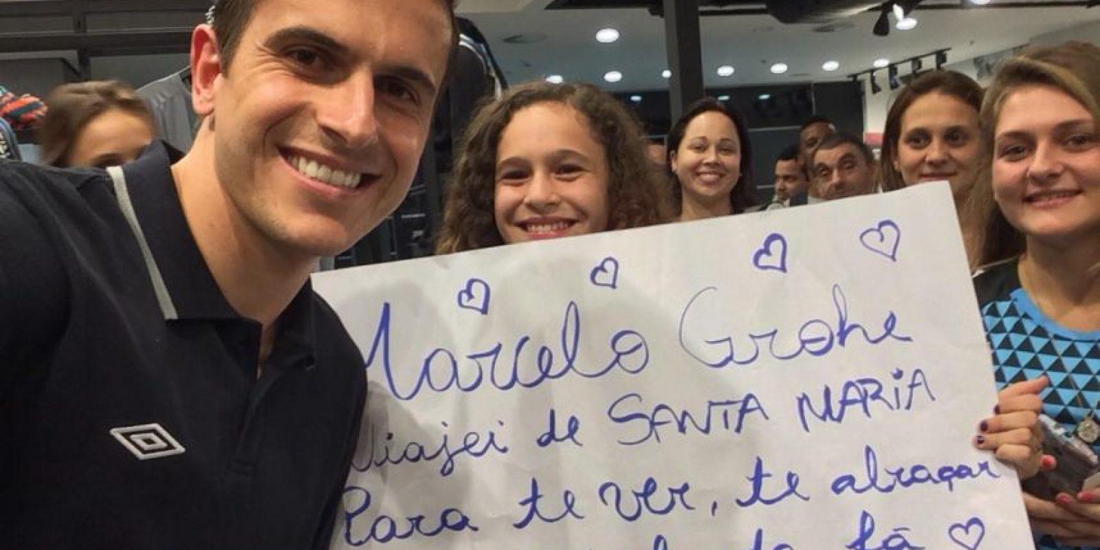 Su esposa es Paola Grohe, con quien se casó en 2012. Foto:Vía facebook.com/marcelogrohe1oficial
