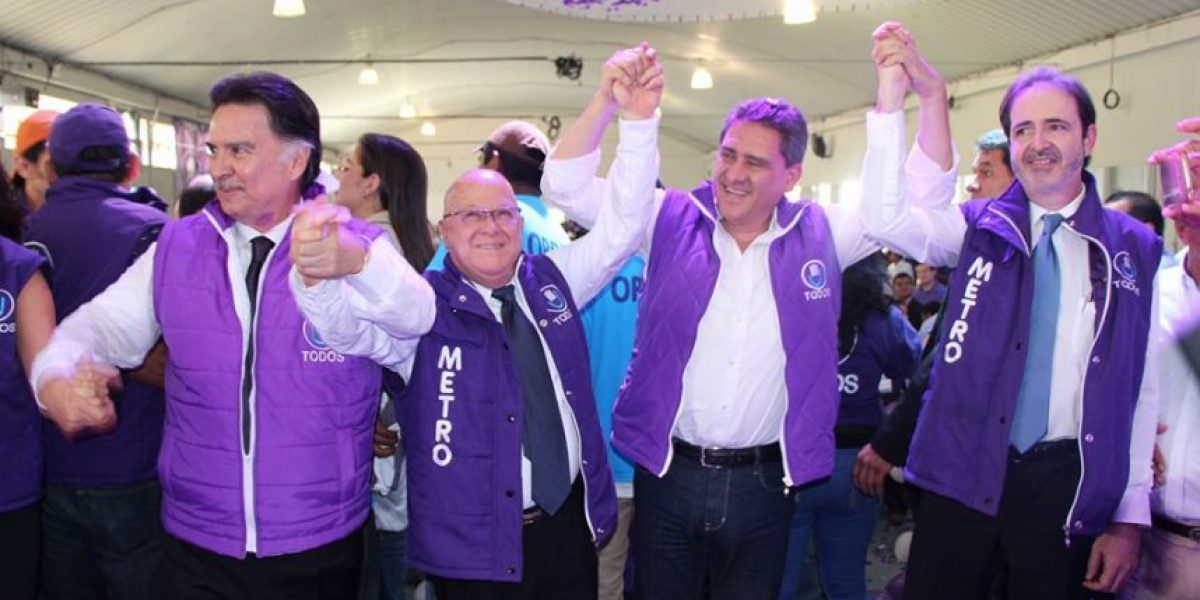 FOTOS. Este es el binomio presidencial del partido TODOS