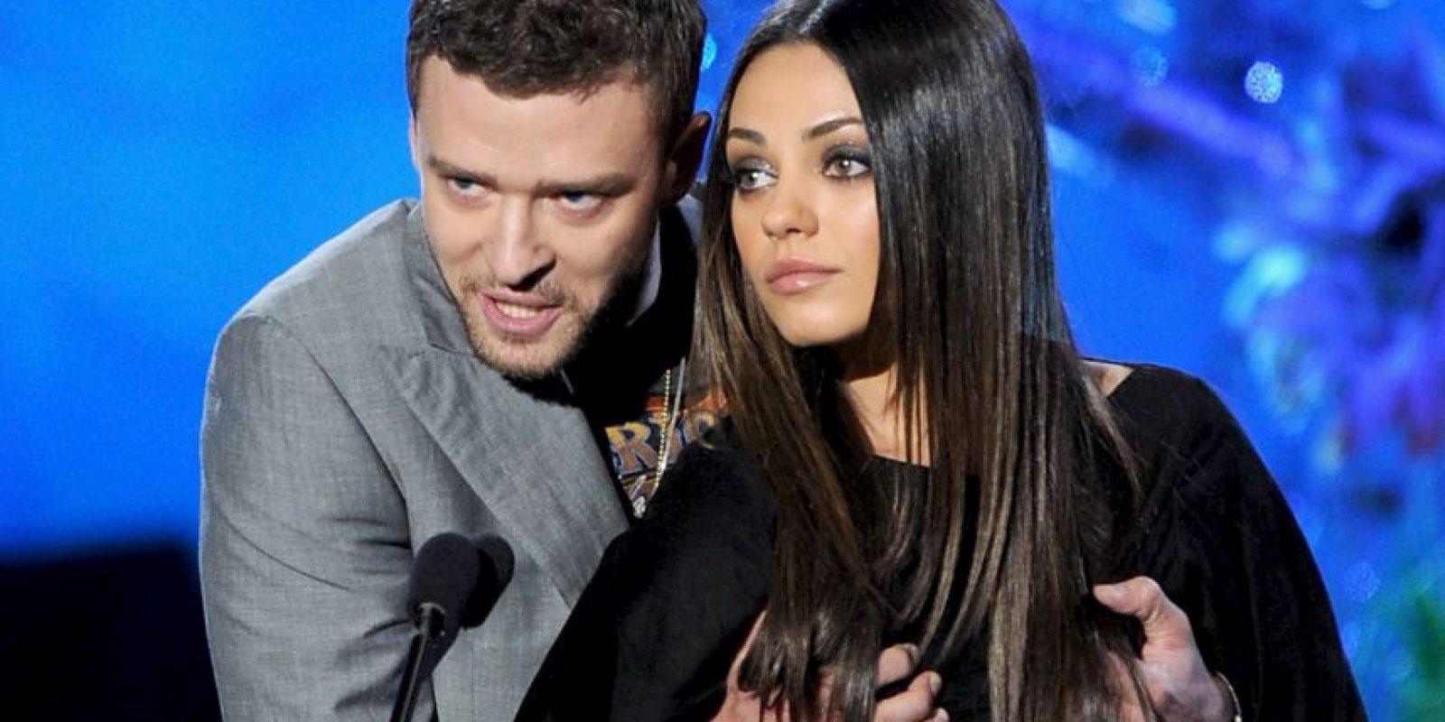 Justin Timberlake y Mila Kunis Foto:Getty Images