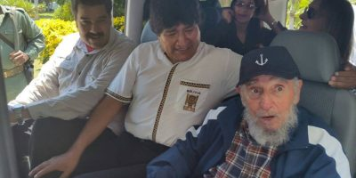 Fidel Castro celebra sus 89 años junto a Nicolás Maduro y Evo Morales