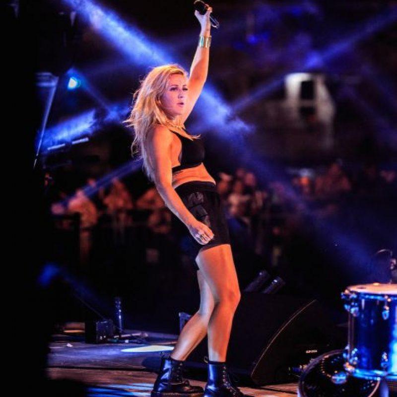 La cantante fue la encargada de presentar a Calvin y a Taylor. Foto:Getty Images
