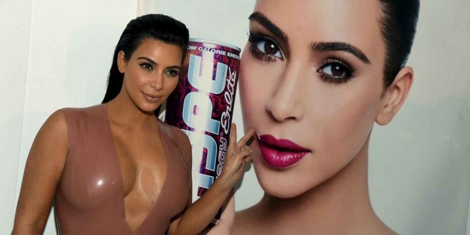 Kim Kardashian apareció por primera vez ante los medios después de que se diera a conocer su embarazo. Foto:Getty Images