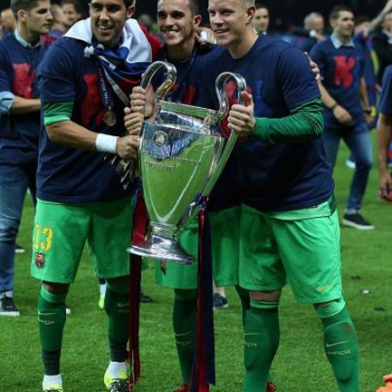 El titular del Barça en la Champions League fue el alemán Marc-André Ter Stegen. Foto:Getty Images