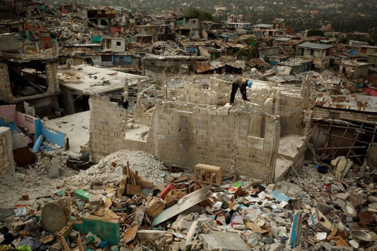 Entre los edificios destruidos se encontraban el Palacio Presidencial Foto:Getty Images