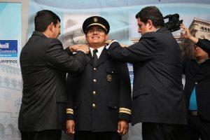 Rony Tubac fue juramentado el 9 de marzo. Foto:PNC