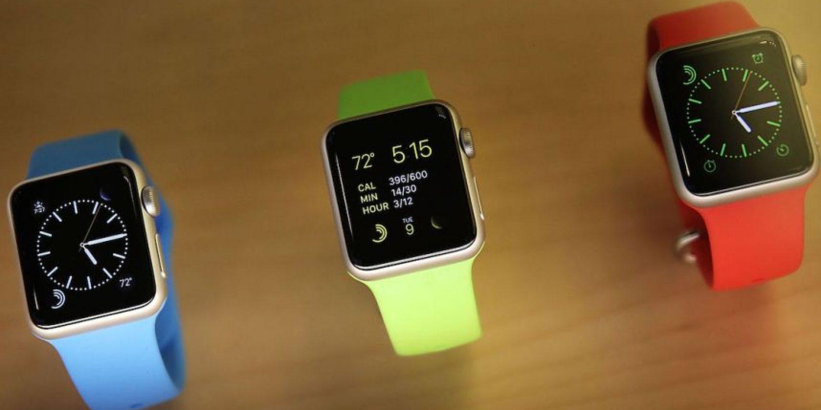 Todos los modelos del Apple Watch tienen dos presentaciones de 42 y 38 milímetros Foto:Getty Images
