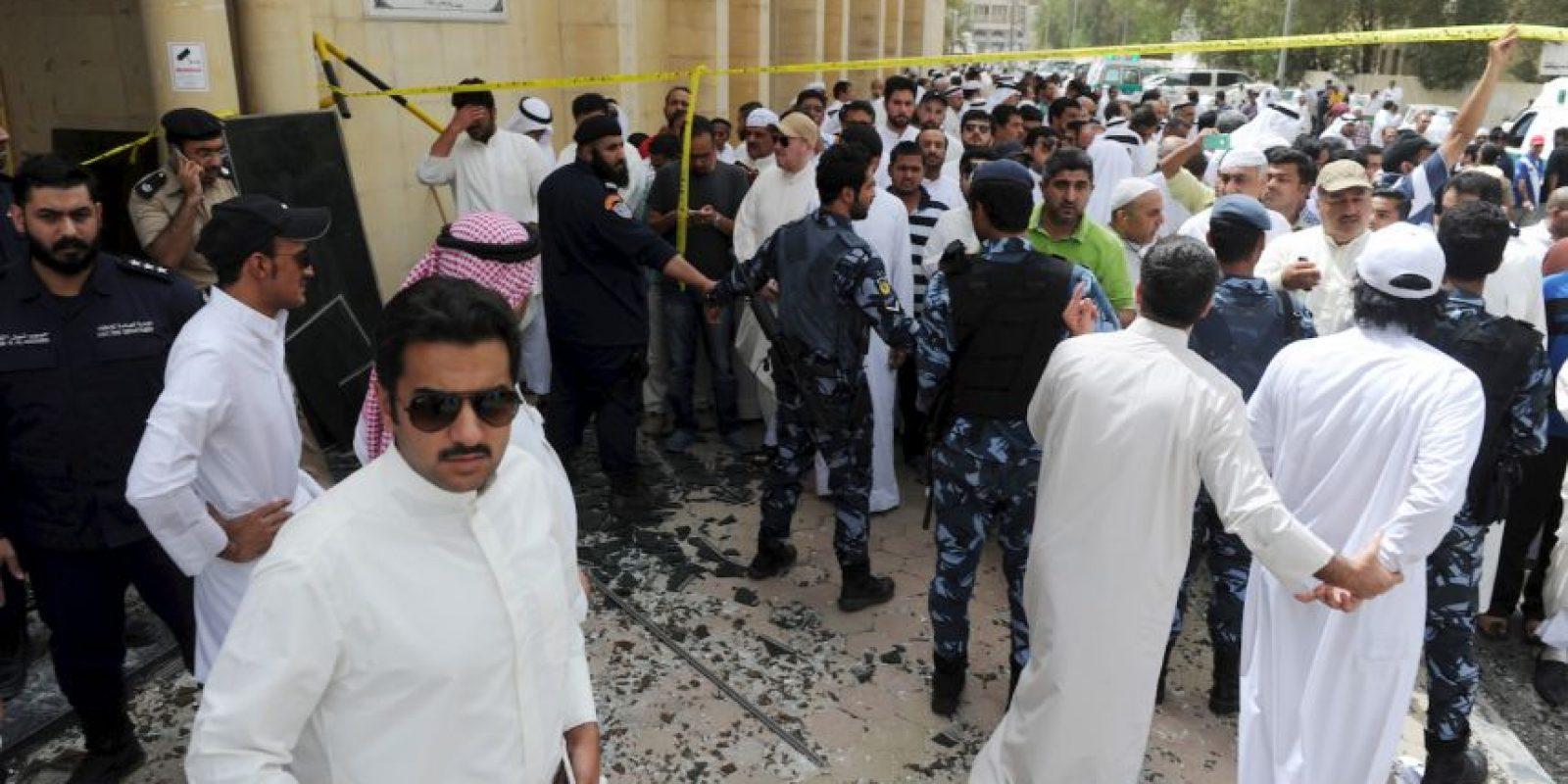 El atentado fue en la capital de Kuwait. Foto:AP