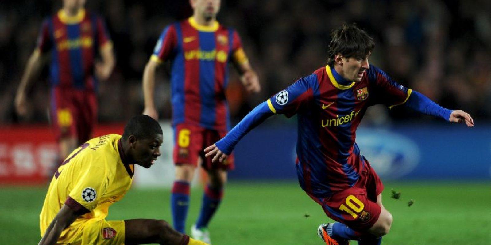 En los octavos de final de la Champions de 2010, los culés perdieron 2-1 en el partido de ida ante Arsenal Foto:Getty Images