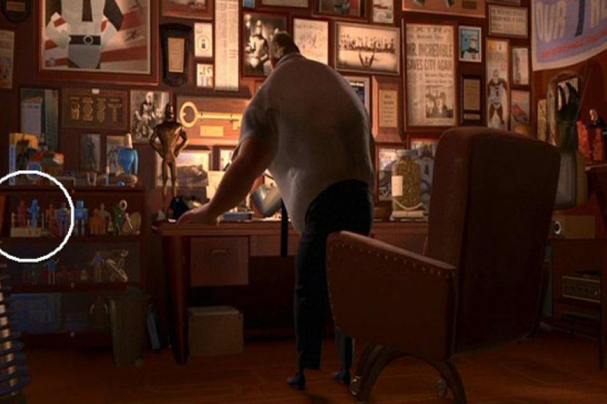 """En la oficina del """"Sr Increíble"""" están los luchadores de juguete de """"Toy Story"""" Foto:Pixar"""
