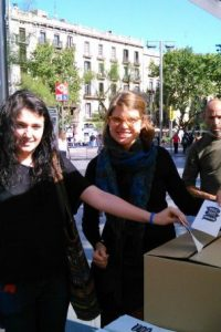 Fue candidata a eurodiputada por Izquierda Unida, pero no tuvo éxito Foto:Twitter.com/rossi_delfina
