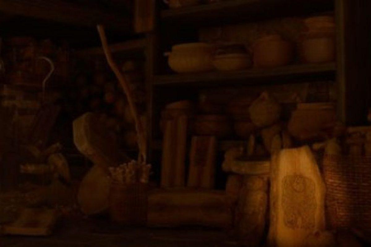 """""""Sulley"""" aparece en un pedazo de madera durante la película """"Valiente"""". Foto:Pixar"""