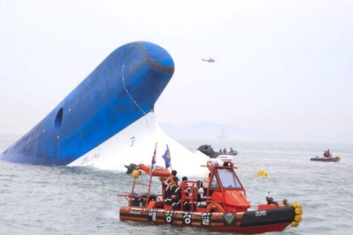 MV Sewol: El 16 de abril de 2014 murieron cerca de 300 personas en el desastre marítimo que conmocionó a Corea del Sur Foto:Getty Images