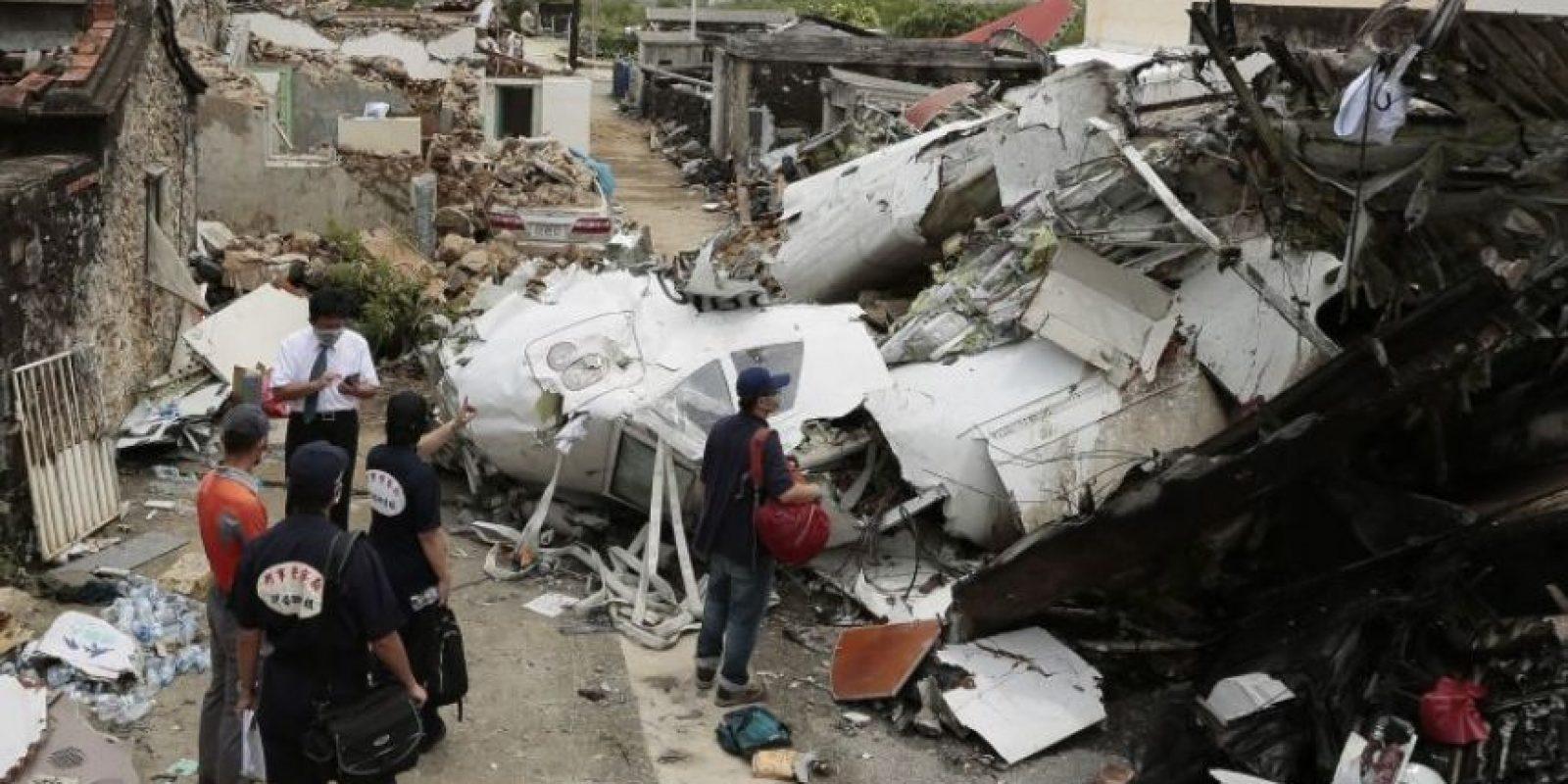 Se estrelló en la Isla Penghu, en Taiwan Foto:Getty Images