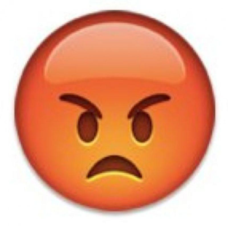 Es la cara más enojada que encontrarán en los emojis. Foto:emojipedia.org