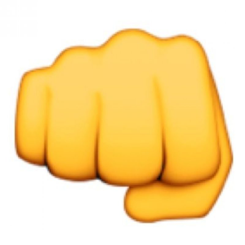 El puño cerrado indica un golpe fuerte y claro. Foto:emojipedia.org