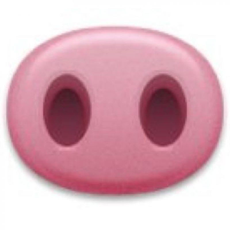 Es una nariz de un cerdo y podría ser una referencia al peso de la otra persona. Foto:emojipedia.org