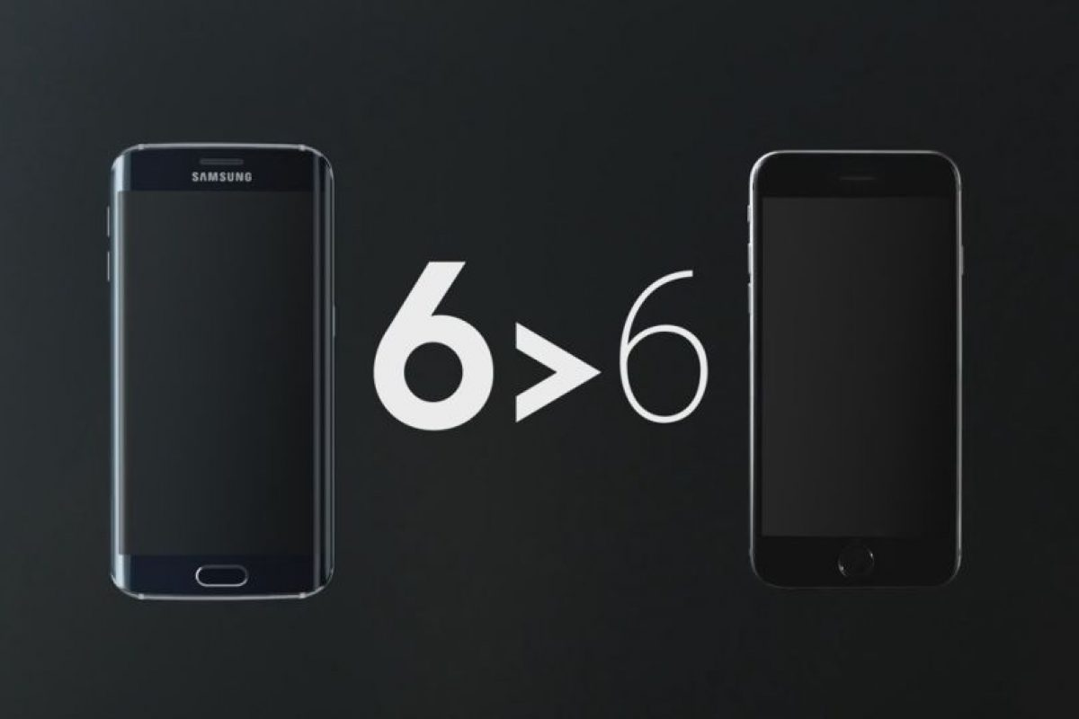 Samsung compara al Galaxy S6 Edge con el iPhone 6 Foto: Samsung