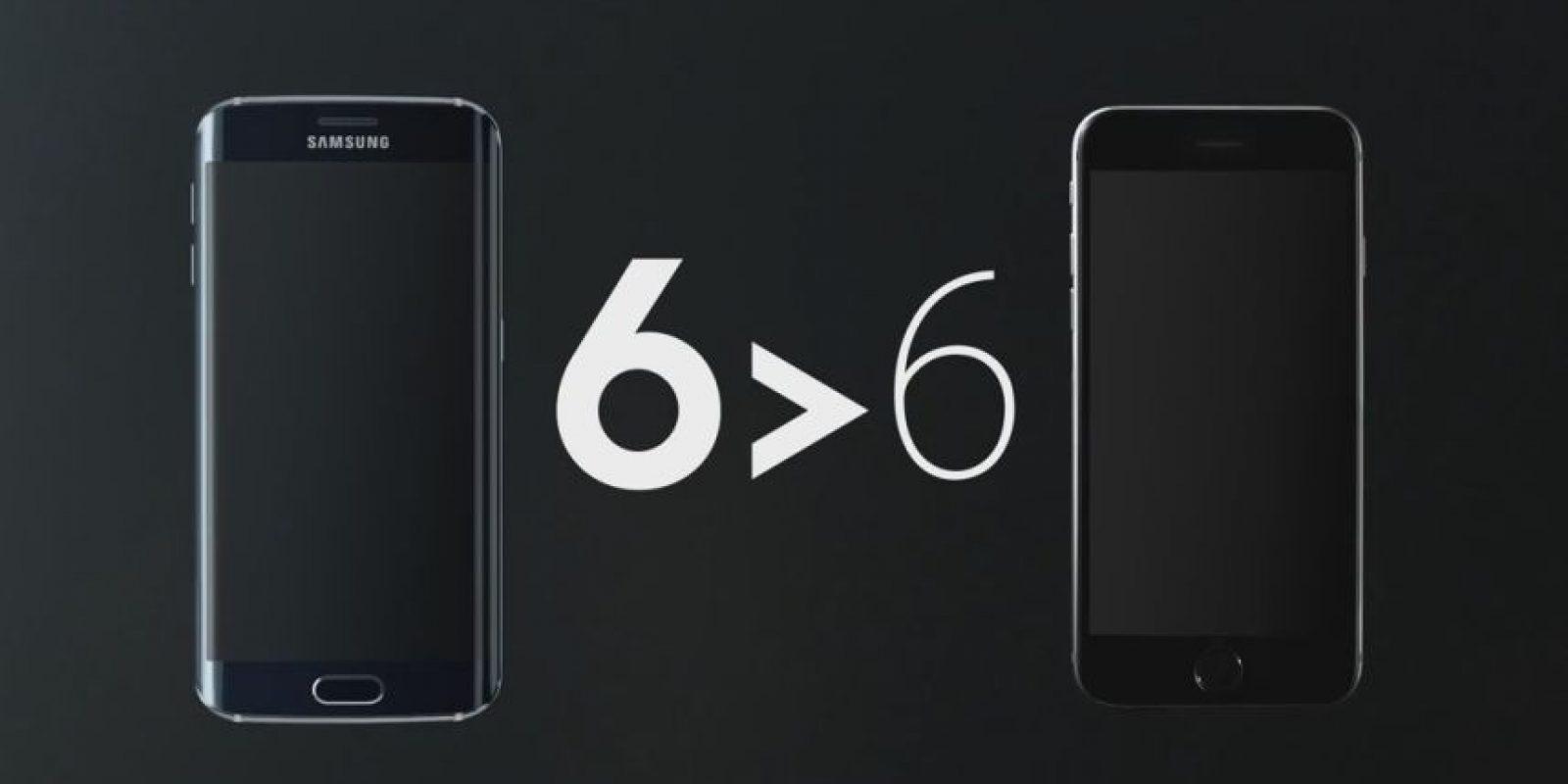 Samsung compara al Galaxy S6 Edge con el iPhone 6 Foto:Samsung