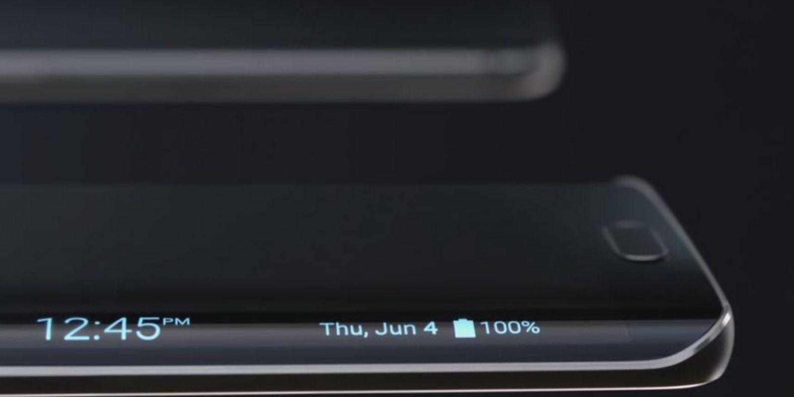 La doble curvatura del S6 Edge tiene muchas funciones. Foto:Samsung