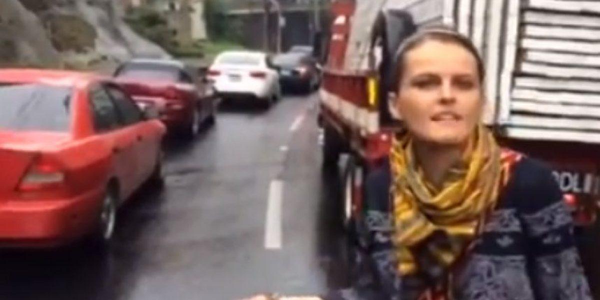 VIDEO. Gloria Álvarez arremete contra bloqueo que paralizó este viernes el ingreso a la Ciudad