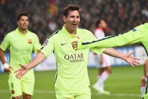 sin complicaciones por 2-0. Con un doblete de Lionel Messi, el Barça se encaminaba a octavos de final. Foto:AFP