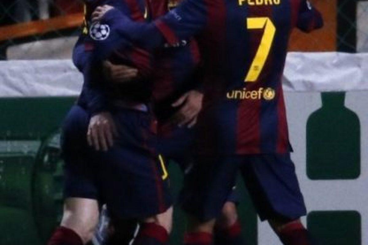 """Al final, los blaugranas se impusieron por 4-0 con un hat-trick de la """"Pulga"""" y un tanto de Luis Suárez Foto:AFP"""
