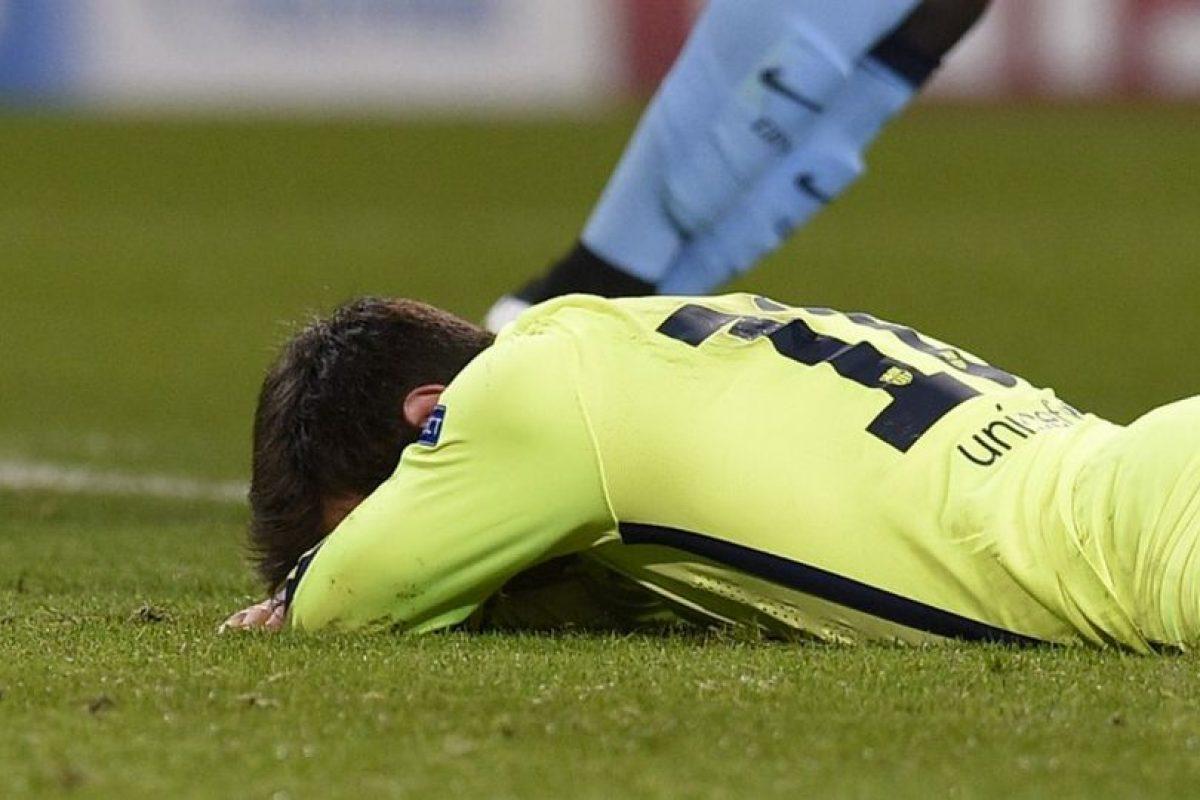24 de febrero de 2015. En octavos de final, el rival a superar fue el Manchester Citu. Con dos goles de Luis Suárez, el Barça de Luis Enrique dejó encaminada la clasificación a cuartos de final. Al final, la ventaja pudo ser más pero Joe Hart le contuvo un penal a Lionel Messi Foto:AFP