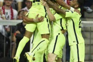 12 de mayo de 2015. Bayern ganó la vuelta 3-2 pero Barcelona clasificó a la final Foto:AFP