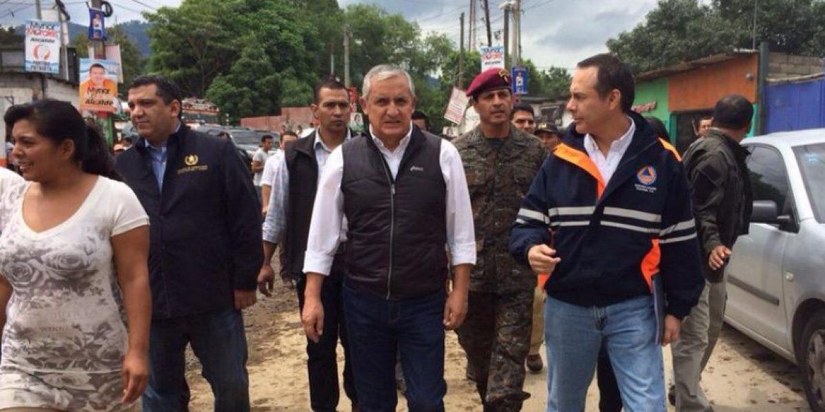 Presidente supervisa área afectada por lluvias en Santa Inés Petapa
