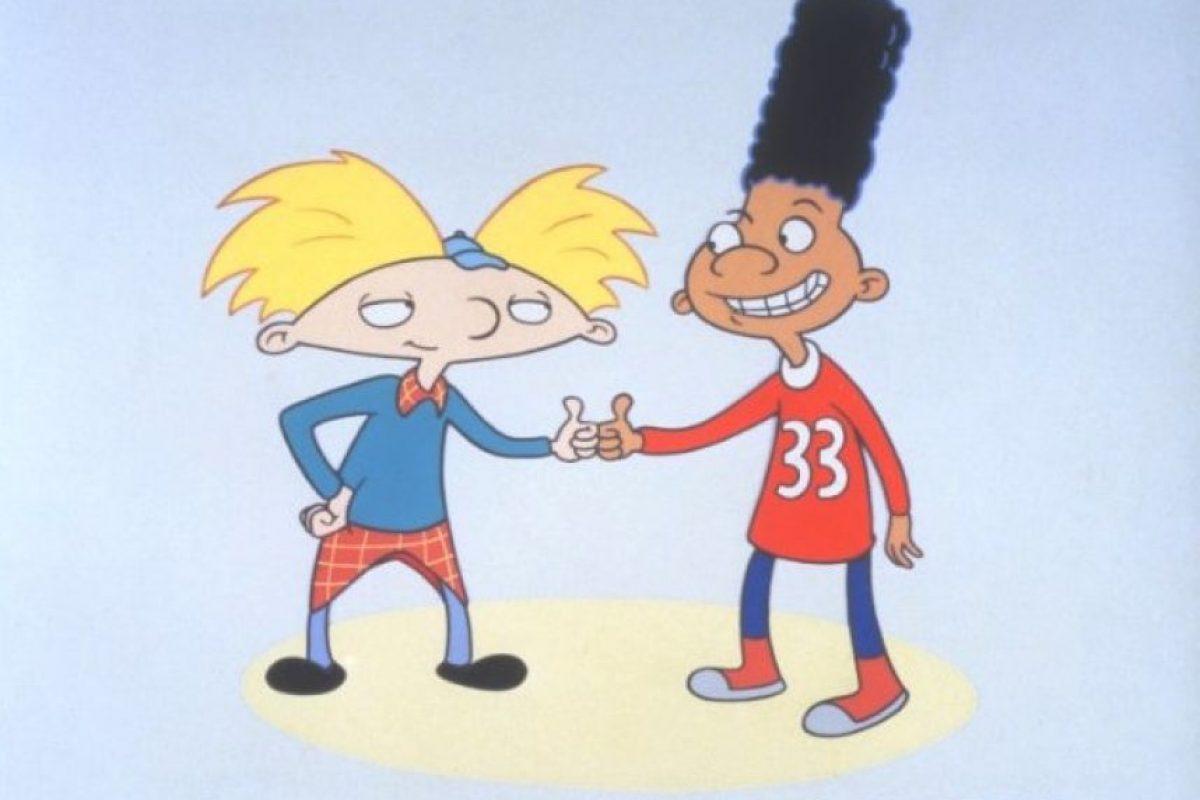 """1.- El saludo entre """"Arnold"""" y """"Gerald"""" Foto:IMDB"""