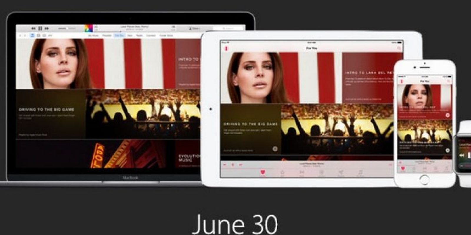 Comenzará a funcionar el 30 de junio con iOS 8.4 Foto:Apple