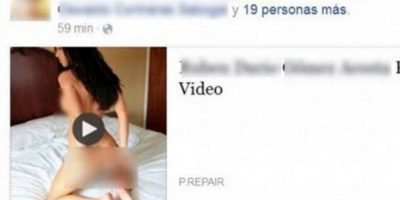 Un supuesto video sexual circula en Facebook. Foto: Twitter