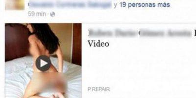 Un supuesto video sexual circula en Facebook. Foto:Twitter
