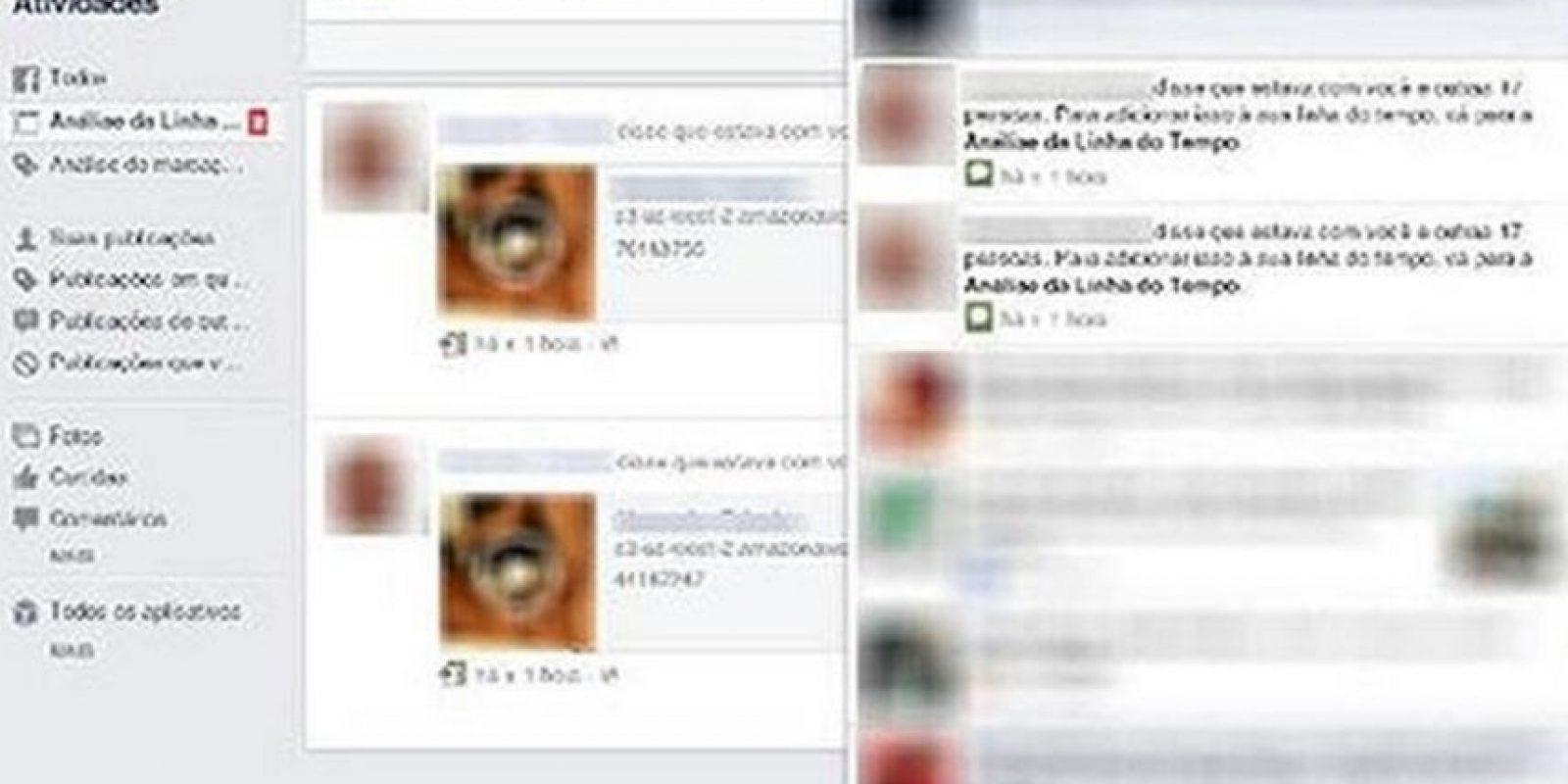 Se publica sin autorización en el muro de algún usuario de Facebook y etiqueta hasta a 20 contactos. Foto:Twitter
