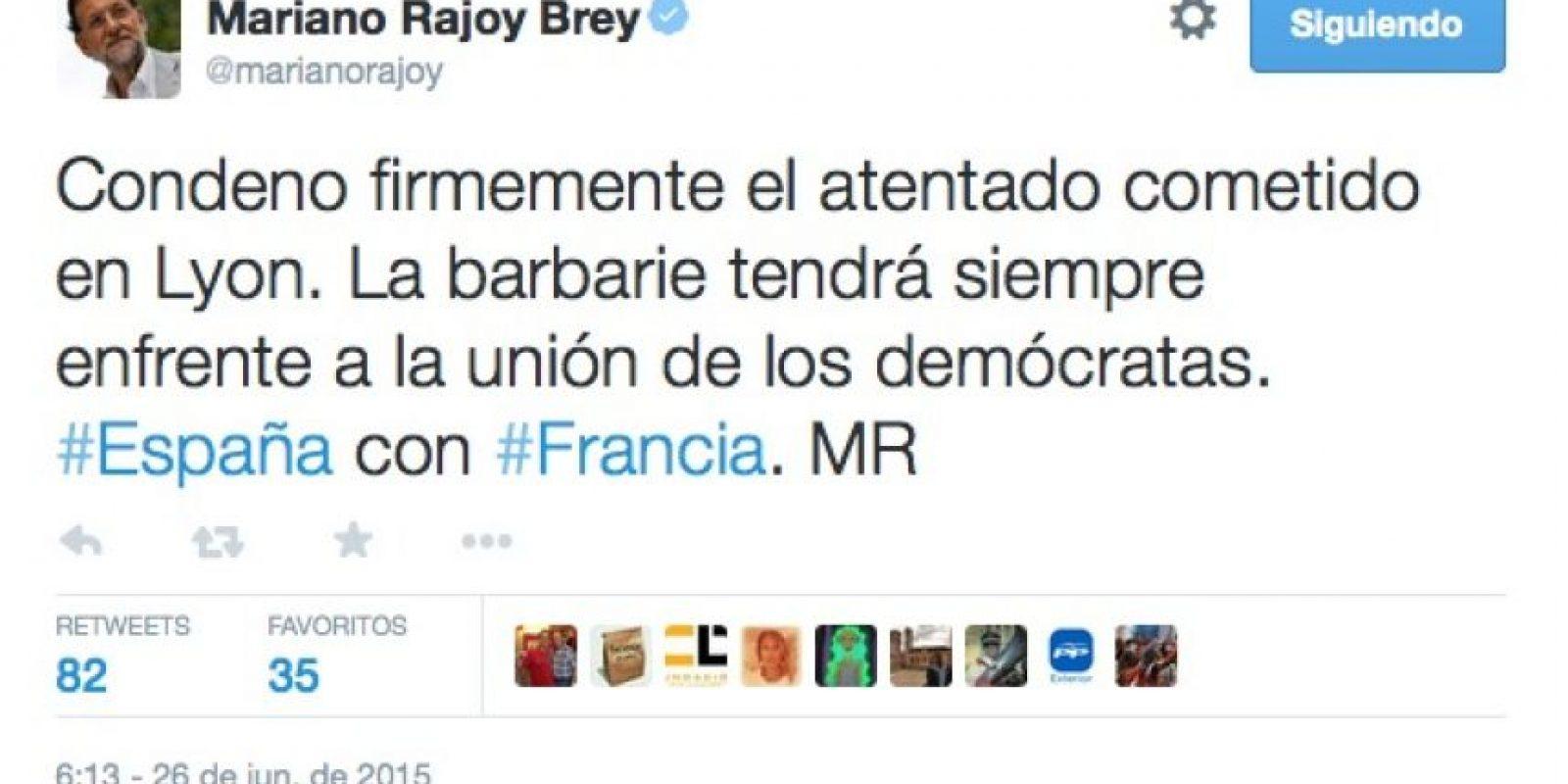 Mariano Rajoy, presidente del gobierno español Foto:Twitter.com
