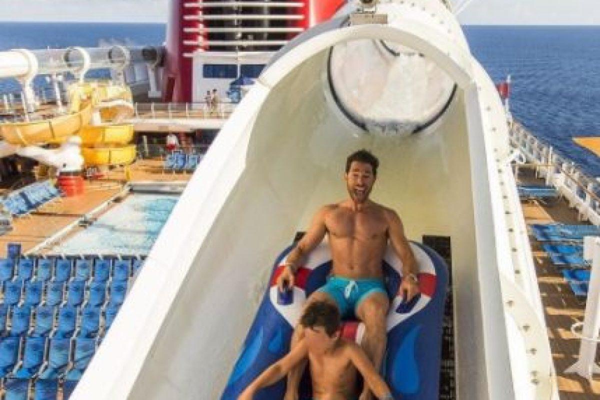 Durante sus vacaciones, Rulli disfrutó de la compañía de su hijo, Santiago. Foto:vía instagram.com/sebastianrulli