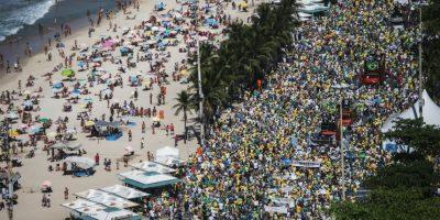 Mientras que en Rio de Janeiro se movilizaron 10 mil personas Foto:Getty Images