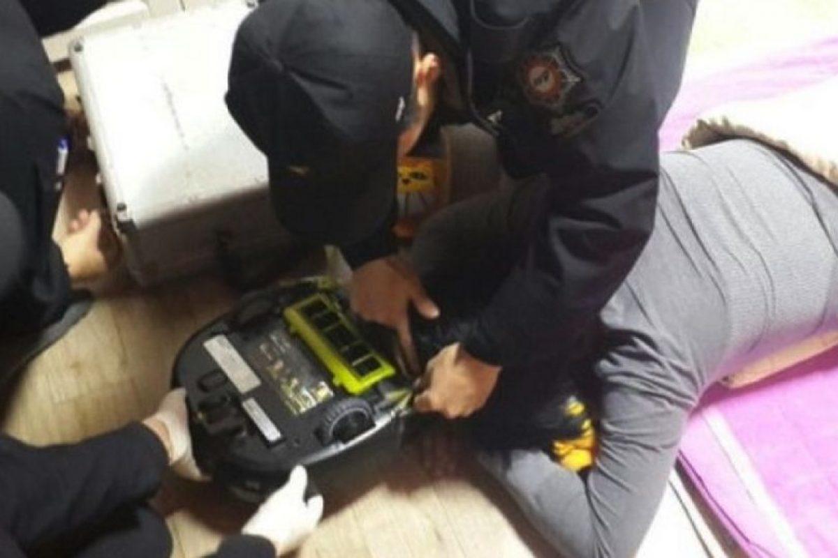 Mujer es atacada por su robot aspiradora Foto:Changwon Fire Service Headquarters