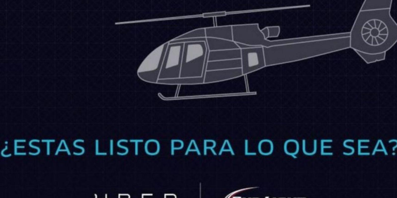 2) Entrada a un evento deportivo y viaje en helicóptero. Foto:Uber