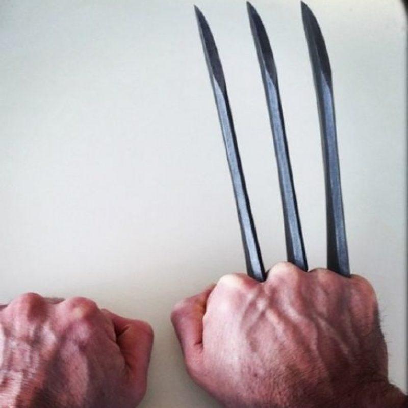 """""""Wolverine… por última vez"""", fue lo que escribió junto a una fotografía de las garras de su personaje. Foto:vía instagram.com/hughjackman"""
