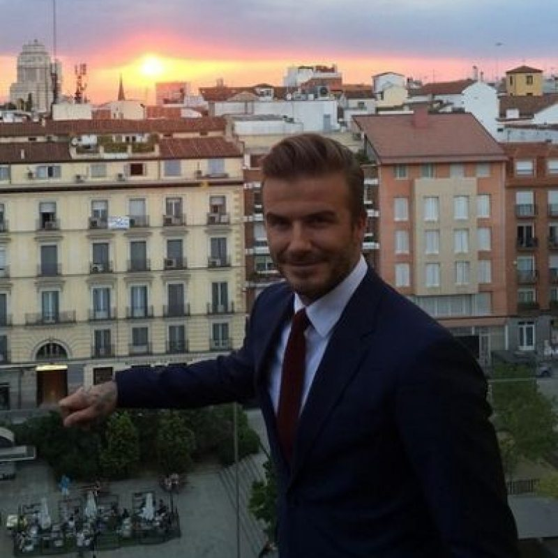 David Beckham ya inició su carrera como actor. Foto:Instagram/DavidBeckham