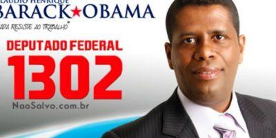 """En donde podemos encontrar a """"Barack Obama"""" a diputado federal Foto:Naosalvo.com.br"""