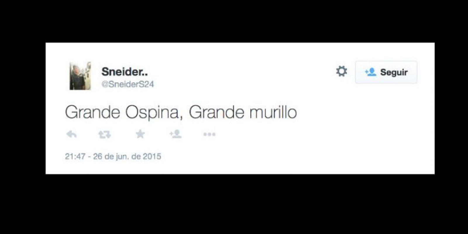 También, le perdonan a Murillo su penal fallido. Foto:vía Twitter